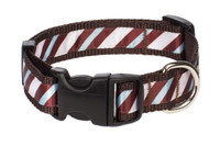 Chocolate Snow Cone Dog Collar-Stripe