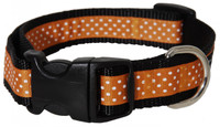 Pembroke Polka Dot Dog Collar-Orange