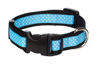 Pembroke Polka Dot Dog Collar-Baby Blue