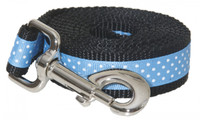 Pembroke Polka Dot Dog Leash-Baby Blue