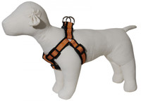 Pembroke Polka Dot Dog Harness-Orange