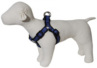 Pembroke Polka Dot Dog Harness-Blue
