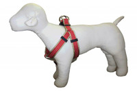 Pembroke Polka Dot Dog Harness-Red/Tan