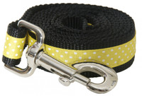 Pembroke Polka Dot Dog Leash-Yellow