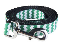 Chevron Dog Leash-Green/Black
