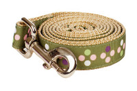 Sweet Pea Dog Leash - Pea Soup on Tan