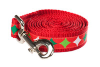 Christmas Morning Dog Leash - Christmas Stocking Stars