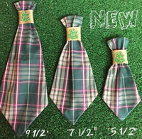 Dog Neck Ties - Green Plaid