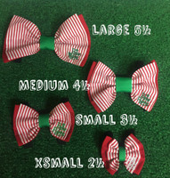Bow Tie-Candy Christmas Stripe