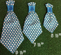 Dog Neck Ties - Where's my chauffeur Blue Polka Dot