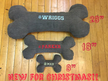 Every dog deserves a bone! These are great additions to your dogs bed to rest their head on or to snuggle with.