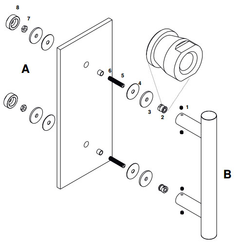What are the different ways to mount pull bar handles bolt through fixing for glass doors with cap planetlyrics Image collections
