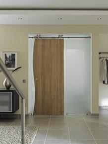 Modern Barn Door Hardware - MWE Duplex S