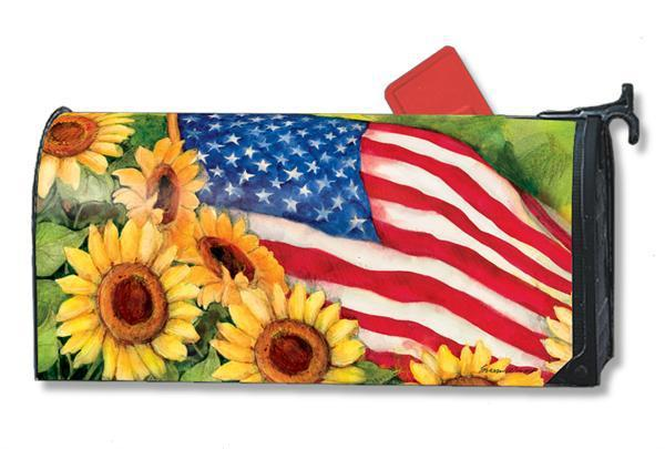 American Sunflower Magnetic Mailbox Cover