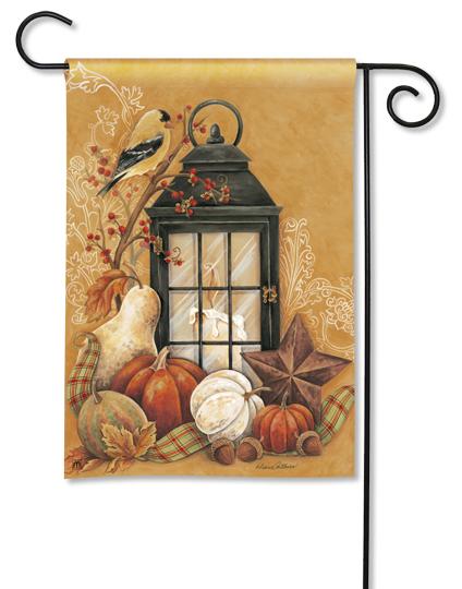 Autumn Lantern Garden Flag