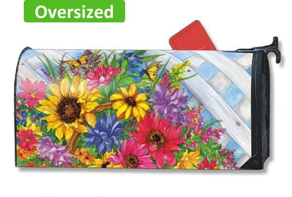 Blooming Basket Oversized Large Mailbox Cover