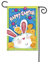 Bunny Wanna Be Easter Garden Flag