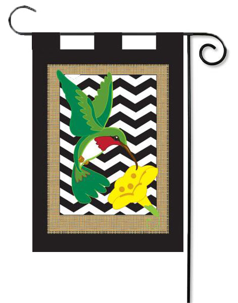 Hummingbird Double Applique Garden Flag