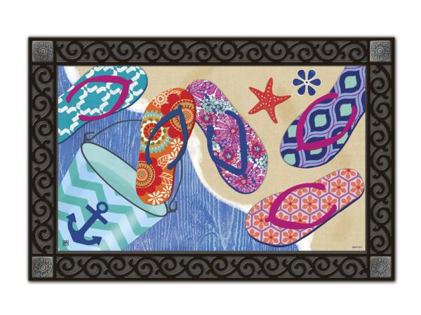 Flip Flops Summer MatMates Doormat