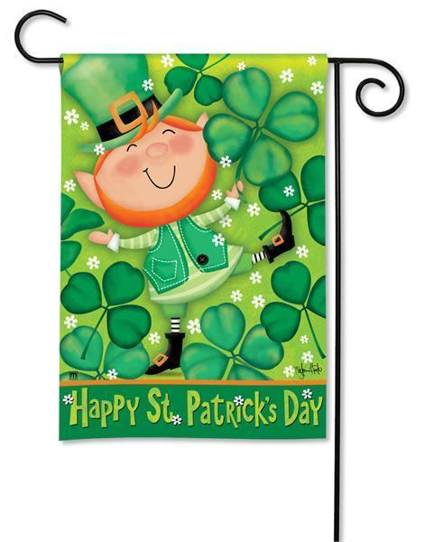 Leprechaun Happy St. Patrick's Day Garden Flag
