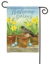 Spring garden flags