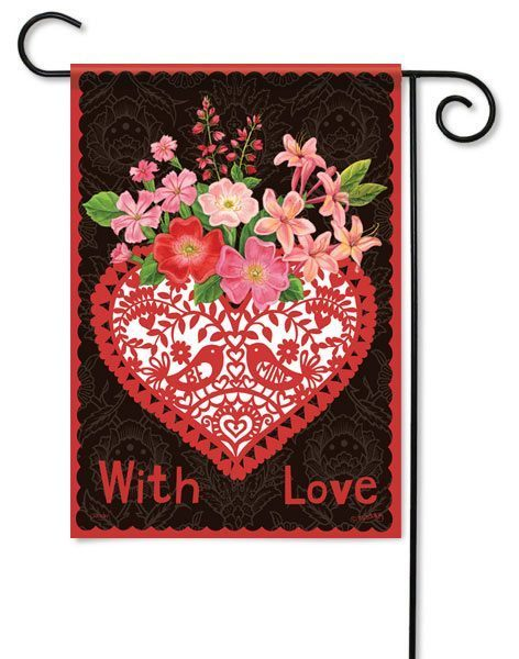 With Love Garden Flag