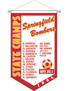 Personalized Championship Banner - Size 21 x 12