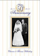 Personalized Anniversary Photo Flag - House Size 30 x 40