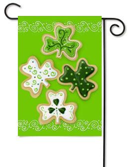 Toland St. Patrick's Day Cookies Garden Flag