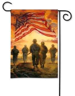 American Heroes Patriotic Garden Flag by BreezeArt