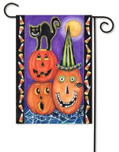 Pumpkin Party Halloween Garden Flag by Toland Flags