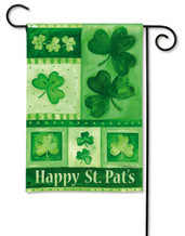 Shamrock Collage BreezeArt St. Patrick's Day Garden Flag
