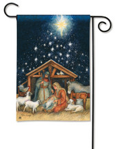 Holy Night BreezeArt Christmas Garden Flag