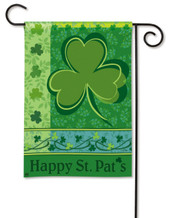 Happy St. Pat's Shamrock BreezeArt Holiday Garden Flag