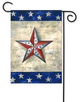 Patriotic garden flag by Toland