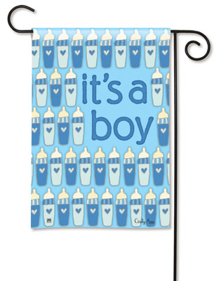 It's A Boy Garden Flag