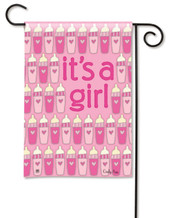 It's A Girl Garden Flag by Breeze Art