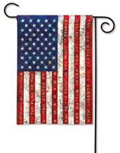 Pledge of Allegiance Patriotic Garden Flag
