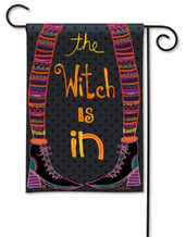 Witch Is In Halloween Garden Flag