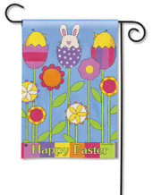 Happy Easter Garden Flag by Breeze Art