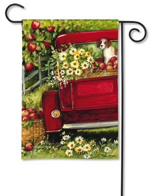 Red Truck Garden Flag by BreezeArt