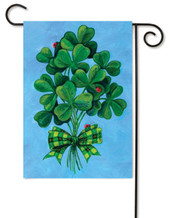 Lucky Shamrocks Toland Holiday Garden Flag