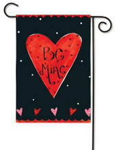 "Be Mine Valentine Garden Flag - Size: 12.5"" x 18"" - 2 Sided Message"