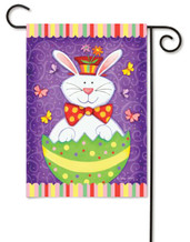 Bunny Surprise Easter Garden Flag By Toland