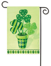 Toland decorative Shamrocks St. Pat's Holiday Garden Flag