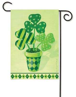 Toland decorative Shamrocks St. Pat's Holiday Garden Flag