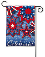Celebrate America Garden Flag by BreezeArt