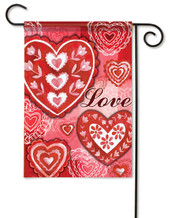 Love Valentine Garden Flag - 2 Sided Message