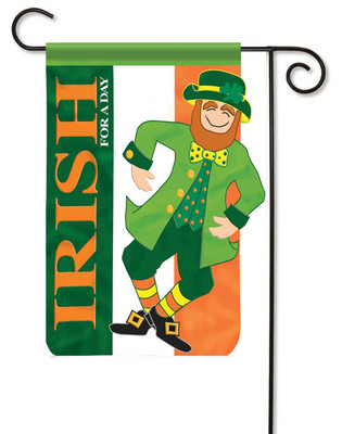 Leprechaun Applique Irish Flag Trends Garden Flag