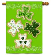 Toland St. Pat's Holiday Clover Cookies House Flag